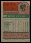 1975 Topps #152  Mario Guerrero  Back Thumbnail