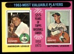 1975 Topps #201   -  Elston Howard / Sandy Koufax 1963 MVPs Front Thumbnail