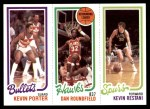 1980 Topps   -  Kevin Porter / Dan Roundfield / Kevin Restani 250 / 20 / 211 Front Thumbnail