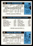 1980 Topps   -  Foots Walker / Mickey Johnson / Bill Robinzine 60 / 113 / 130 Back Thumbnail