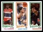 1980 Topps   -  Phil Hubbard / Robert Parish / Tom Burleson 86 / 93 / 126 Front Thumbnail