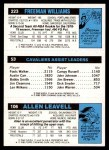 1980 Topps   -  Allen Leavell / Foots Walker / Freeman Williams 106 / 53 / 223 Back Thumbnail