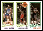 1980 Topps   -  George Johnson / Caldwell Jones / Sam Lacey 156 / 175 / 129 Front Thumbnail