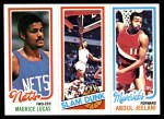 1980 Topps   -  Maurice Lucas / Julius Erving / Abdul Jeelani 158 / 262 / 62 Front Thumbnail
