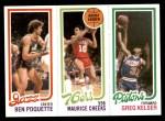 1980 Topps   -  Ben Poquette / Maurice Cheeks / Greg Kelser 241 / 176 / 87 Front Thumbnail
