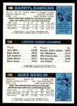 1980 Topps   -  Mike Newlin / Norm Nixon / Darryl Dawkins 159 / 134 / 180 Back Thumbnail