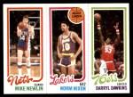 1980 Topps   -  Mike Newlin / Norm Nixon / Darryl Dawkins 159 / 134 / 180 Front Thumbnail