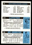 1980 Topps   -  Joe Meriweather / World B. Free / David Greenwood 169 / 218 / 42 Back Thumbnail
