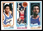 1980 Topps   -  Alex English / Moses Malone / Winford Boynes 75 / 102 / 64 Front Thumbnail