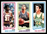 1980 Topps   -  Mike Cooper / John Shumate / Paul Westphal 137 / 212 / 229 Front Thumbnail