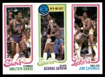 1980 Topps   -  Walter Davis / George Gervin / Jim Chones 191 / 11 / 136 Front Thumbnail