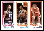 1980 Topps   -  Ray Williams / John Lucas / Dave Twardzik 173 / 94 / 202 Front Thumbnail