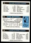 1980 Topps   -  Kareem Abdul-Jabbar / Mike Mitchell / Terry Tyler 132 / 56 / 81 Back Thumbnail
