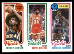 1980 Topps   -  Mickey Johnson / Tree Rollins / Micheal Ray Richardson 112 / 28 / 15 Front Thumbnail