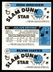 1980 Topps   -  Elving Hayes / Julius Erving / Ron Brewer 257 / 181 / 258 Back Thumbnail