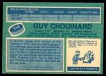 1976 O-Pee-Chee NHL #316  Guy Chouinard  Back Thumbnail