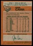 1978 Topps #14  Gene Carr  Back Thumbnail