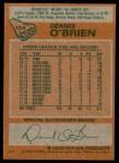 1978 Topps #104  Dennis O'Brien  Back Thumbnail