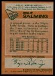 1978 Topps #240  Borje Salming  Back Thumbnail