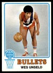 1973 Topps #176  Wes Unseld  Front Thumbnail