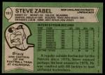 1978 Topps #181  Steve Zabel  Back Thumbnail