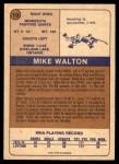 1974 O-Pee-Chee WHA #10  Mike Walton  Back Thumbnail