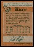 1978 Topps #7  Rick Blight  Back Thumbnail