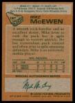 1978 Topps #187  Mike McEwen  Back Thumbnail