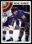 1978 Topps #188  Rene Robert  Front Thumbnail