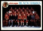 1978 Topps #195   Black Hawks Team Checklist Front Thumbnail