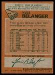 1978 Topps #44  Yves Belanger  Back Thumbnail