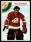 1978 Topps #44  Yves Belanger  Front Thumbnail