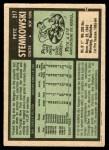 1971 O-Pee-Chee #217  Pete Stemkowski  Back Thumbnail