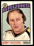1976 O-Pee-Chee NHL #120  Gerry Cheevers  Front Thumbnail
