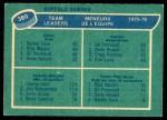 1976 O-Pee-Chee NHL #380   -  Danny Gare / Gil Perreault / Rick Martin Sabres Leaders Back Thumbnail