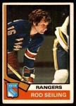 1974 O-Pee-Chee NHL #102  Rod Seiling  Front Thumbnail