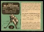 1970 O-Pee-Chee #172  Walt McKechnie  Back Thumbnail