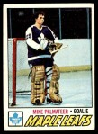 1977 Topps #211  Mike Palmateer  Front Thumbnail