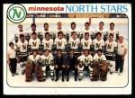 1978 Topps #199   North Stars Team Checklist Front Thumbnail