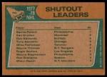 1978 Topps #70   -  Bernie Parent / Ken Dryden / Don Edwards / Tony Esposito / Mike Palmateer League Leaders Back Thumbnail