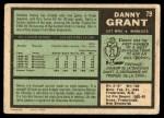 1971 O-Pee-Chee #79  Danny Grant  Back Thumbnail