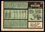 1971 O-Pee-Chee #165  Jim Watson  Back Thumbnail