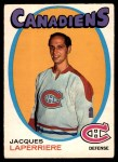 1971 O-Pee-Chee #144  Jacques Laperriere  Front Thumbnail