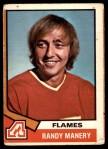 1974 O-Pee-Chee NHL #86  Randy Manery  Front Thumbnail
