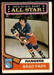 1974 O-Pee-Chee NHL #131   -  Brad Park All-Star Front Thumbnail