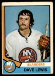 1974 O-Pee-Chee NHL #324  Dave Lewis  Front Thumbnail