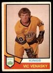 1974 O-Pee-Chee NHL #389  Vic Venasky  Front Thumbnail