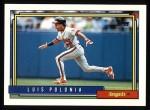 1992 Topps #37  Luis Polonia  Front Thumbnail