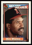 1992 Topps #5   -  Dave Winfield Record Breaker Front Thumbnail