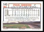 1992 Topps #143  Paul Gibson  Back Thumbnail